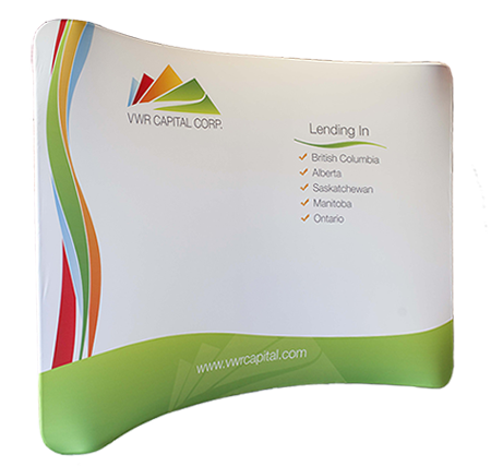 Fraser Valley Tension Fabric Curve Trade Show Pop Up Display