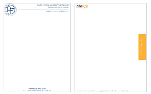 Fraser Valley Allegra letterhead marketing print