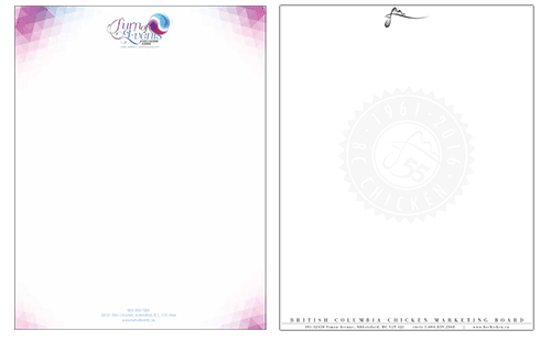 Abbotsford business letterhead print design