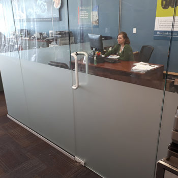 Fraser Valley office window partial forsting
