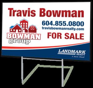 Fraser Valley Lawn Real Estate Sign Order Design Print