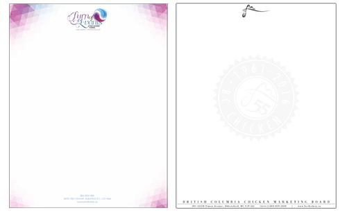 Abbotsford business letterhead print design